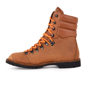 Biker Boot AdventureSE Denver Brandy, brandy heren boot, crème stiksel